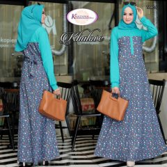 Khalove Dress Warna Blue