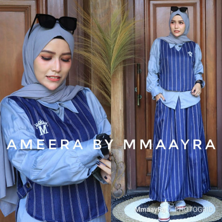 New Ameera Warna Navy Blue