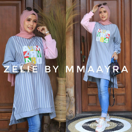 Zelie Tunik Warna Grey