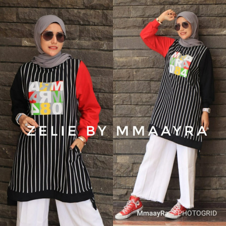 Zelie Tunik Warna Black