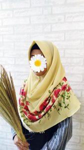 Jilbab Flowery Warna Yellow