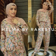 Helma Piyama Warna Dusty Pink