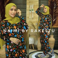 Naimi Piyama Warna Black