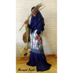 Set Mermaid Batik Warna Navy Blue