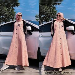 Maxi Dress Warna Salem