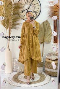 Carinna 2 Setelan Warna Yellow