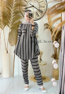 Maleeka Set Warna Grey