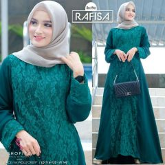 Rafisa Dress Warna Hijau Botol