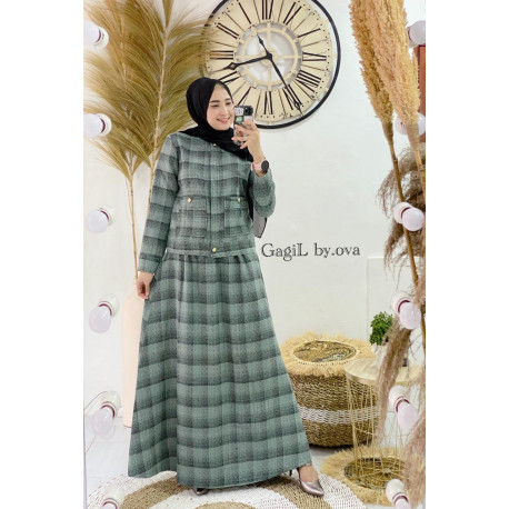 Stefani Dress Warna Green