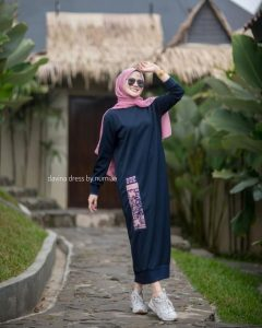 Davina Dress Warna Navy Blue