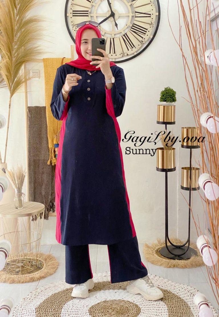 Sunny Set Warna Navy Blue